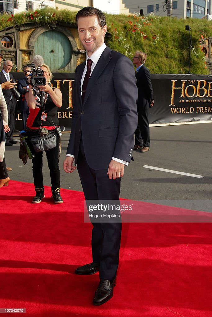 Richard Armitage arrives at the 'The Hobbit: An Unexpected Journey' World Premiere at Embassy Theatre on November 28, 2012 in Wellington, New Zealand.