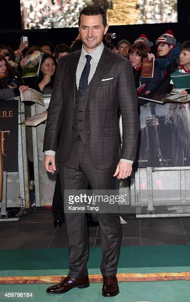 Richard Armitage attends the World Premiere of 'The Hobbit The Battle OF The Five Armies' at Odeon Leicester Square on December 1 2014 in London...