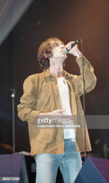 Richard Ashcroft of The Verve on stage during their concert at Slane