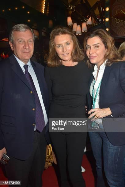 Richard Attias Cecilia Attias and Daphne Roulier attend La Closerie Des Lilas Literary Awards 2014 7th at La Closerie Des Lilas on April 8 2014 in...