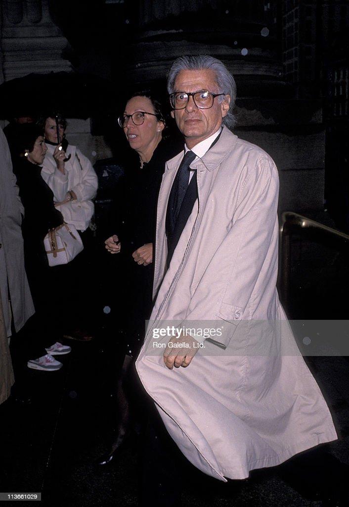 Richard Avedon and guest during Diane Vreeland Memorial November 6 1989 at Metropolitan Museum of Art in New York City New York United States