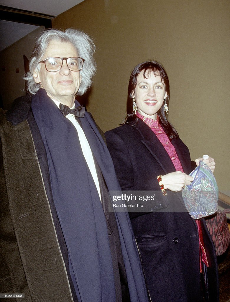 Richard Avedon and Guest during 'Howard's End' Benefit for AmFAR at Tavern on the Green in New York City New York United States