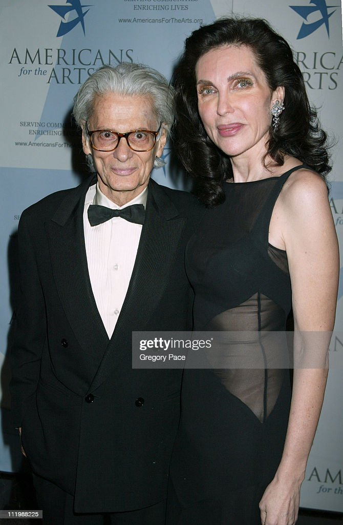 Richard Avedon and Veronica Hearst during Americans For The Arts 8th Annual National Arts Awards Gala at Mandarin Oriental Hotel in New York City New...