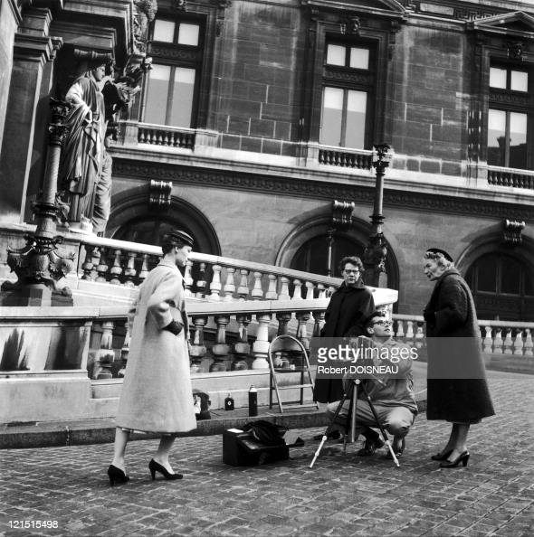 Richard Avedon Dior Model In Front Of The Paris Opera