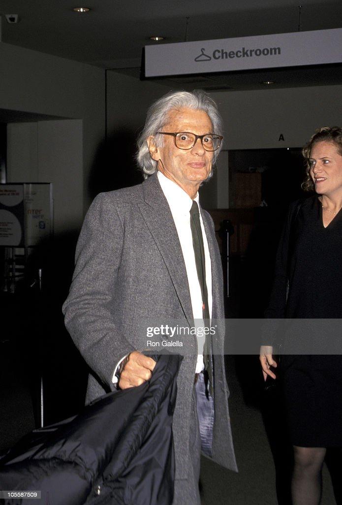 Richard Avedon during Screening of 'Deserto Rosso' at Museum of Modern Art in New York City New York United States