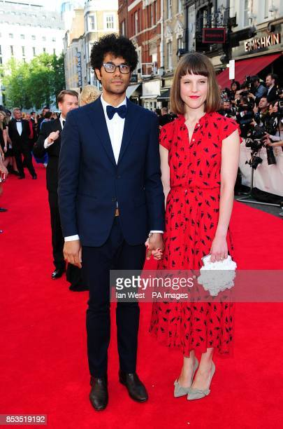 Richard Ayoade and Lydia Fox arriving for the 2014 Arqiva British Academy Television Awards at the Theatre Royal Drury Lane London
