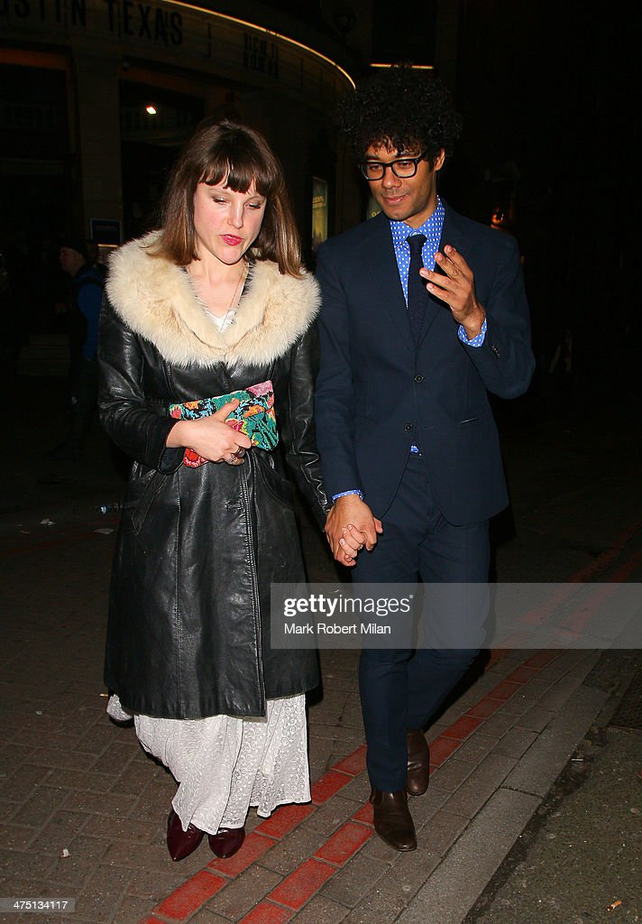 <a gi-track='captionPersonalityLinkClicked' href=/galleries/search?phrase=Richard+Ayoade&family=editorial&specificpeople=5728896 ng-click='$event.stopPropagation()'>Richard Ayoade</a> (R) and Lydia Fox attend the NME awards on February 26, 2014 in London, England.