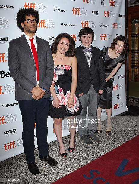 Richard Ayoade Yasmin Paige Craig Roberts and Sally Hawkins arrive at the 'Submarine' premiere during the 2010 Toronto International Film Festival...