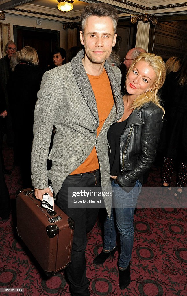 Richard Bacon (L) and Sheridan Smith pose in the foyer following the press night performance of 'The Audience' at the Gielgud Theatre on March 5, 2013 in London, England.