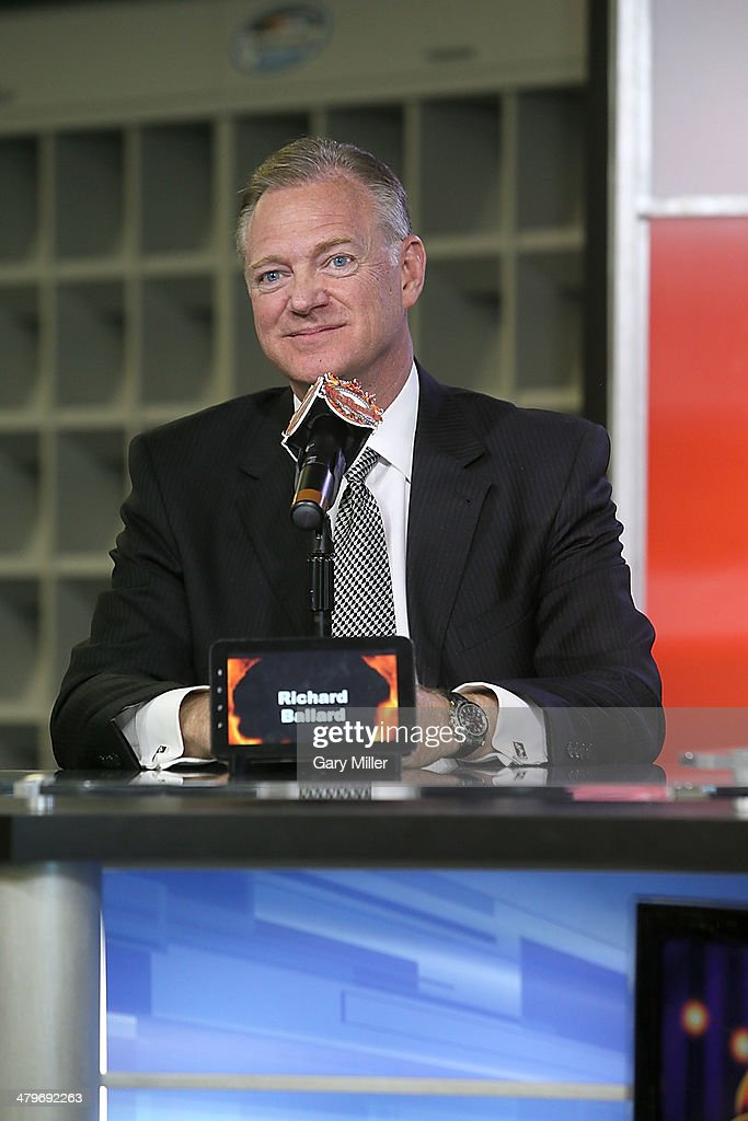 Richard Ballard speaks during the press conference for the unveiling of 'Big Hoss' the largest HD video board in the world at Texas Motor Speedway on March 19, 2014 in Fort Worth, Texas.