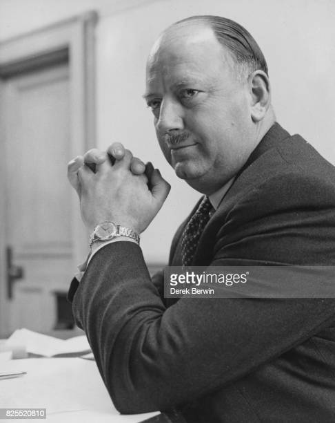 Richard Beeching the Technical Director of Imperial Chemical Industries in his office at ICI's London headquarters after the announcement that he has...