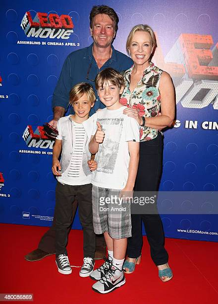 Richard Bell and Rebecca Gibney attend the Sydney premiere of The LEGO Movie at Event Cinemas on March 23 2014 in Sydney Australia