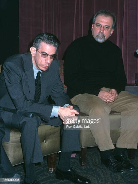 Richard Belzer and guest during Creative Coalition Hosts Freedom of Speech Debates at Tribeca Grand Hotel in New York City New York United States
