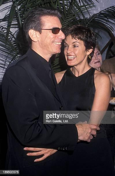 Richard Belzer and Mariska Hargitay attend the grand opening of Landmark Club Restaurant on September 23 2000 in New York City