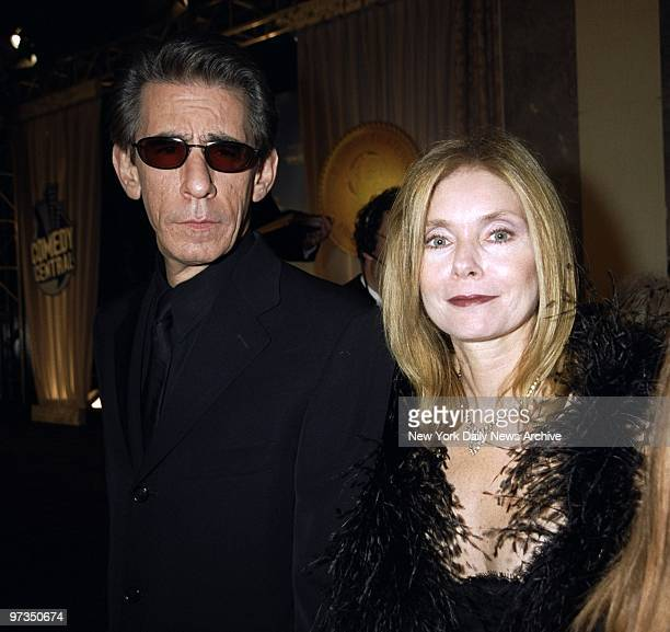 Richard Belzer and wife Harlee McBride arrive for the Friars Club Roast of Rob Reiner at the New York Hilton