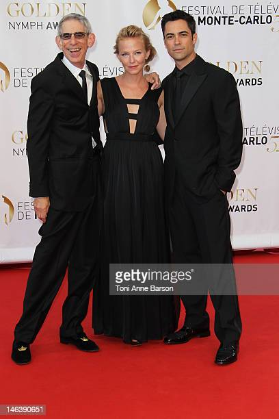 Richard Belzer Kelli Giddish and Danny Pino arrive at the Golden Nymph Award during the 52nd Monte Carlo TV Festival Closing Ceremony on June 14 2012...