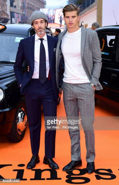 Richard Biedul and Toby HuntingtonWhiteley attending the World Premiere of Kingsman The Golden Circle at Cineworld in Leicester Square London Picture...