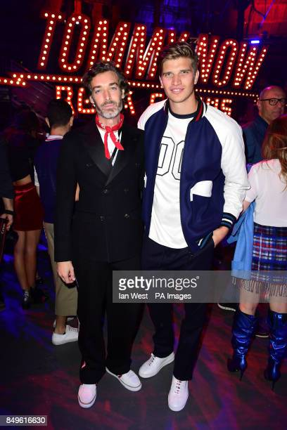 Richard Biedul and Toby HuntingtonWhiteley during the Tommy Hilfiger Front row during London Fashion Week SS18 held at Roundhouse Chalk Farm Rd...