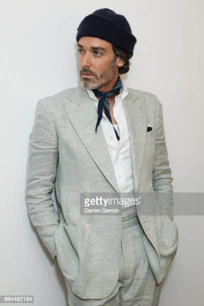 Richard Biedul attends London Fashion Week Men's June 2017 collections on June 9 2017 in London England