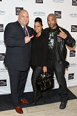 Richard 'Big Daddy' Salgado Zuri McDaniels and Darryl McDaniels attend 2014 Fashion Meets Football at Saks Fifth Avenue on January 29 2014 in New...