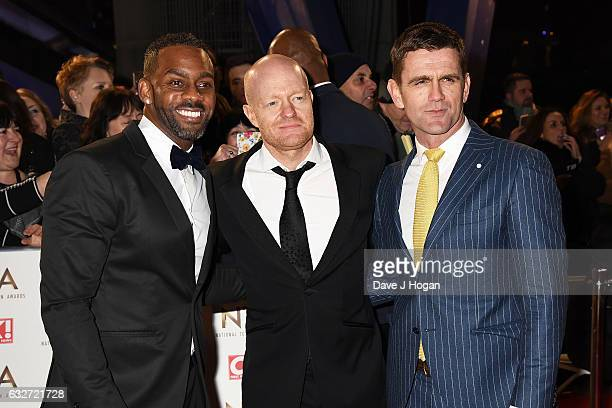 Richard Blackwood Jake Wood and Scott Maslen attend the National Television Awards at Cineworld 02 Arena on January 25 2017 in London England