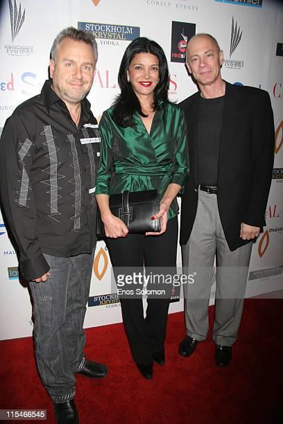 Richard Bleiweiss Publisher Shohreh Aghdashloo and Neil Adelman Ceo
