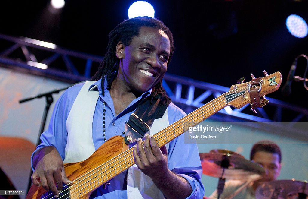 Richard Bona performs at Theatre Antique during Jazz A Vienne 2012 on June 29, 2012 in Vienne, France.