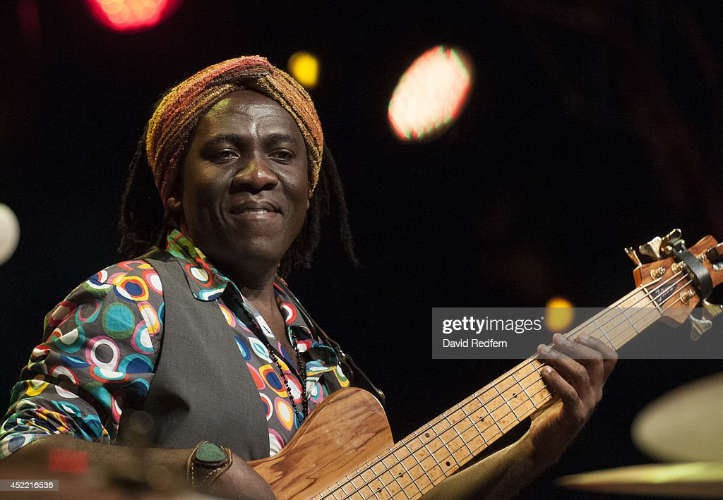 Richard Bona performs on stage at (venue) at Jazz A Juan on July 16, 2014 in Juan-les-Pins, France.