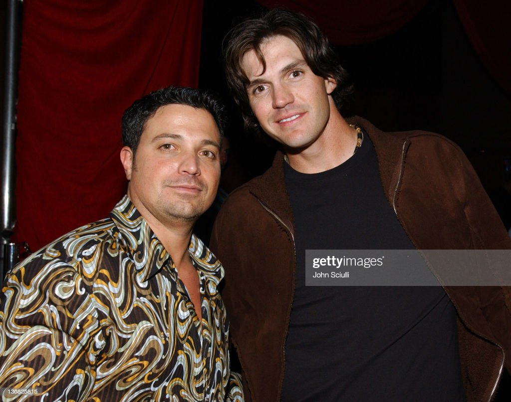 Richard Botto, editor-in-chief/CEO of Razor Magazine, and Barry Zito of the Oakland A's