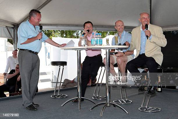 Richard Boxall Chris Hollins Matt Dawson and Len Goodman take part in a QA session in the tented village during the second round of the BMW PGA...