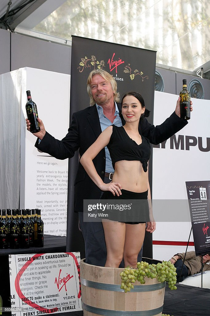 Richard Branson Announces Virgin Wines on day 4 of Olympus Fashion Week Spring 2006 at Bryant Park September 12, 2005 in New York City.