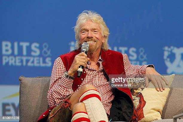 Richard Branson attends the Bits Pretzels Founders Festival at ICM Munich on September 26 2016 in Munich Germany