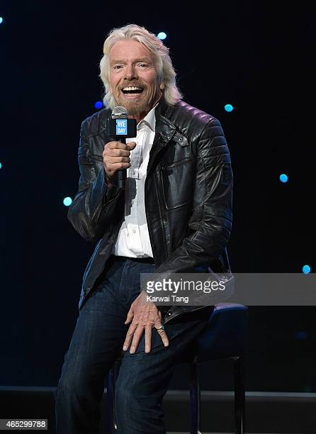 Richard Branson attends We Day UK at Wembley Arena on March 5 2015 in London England