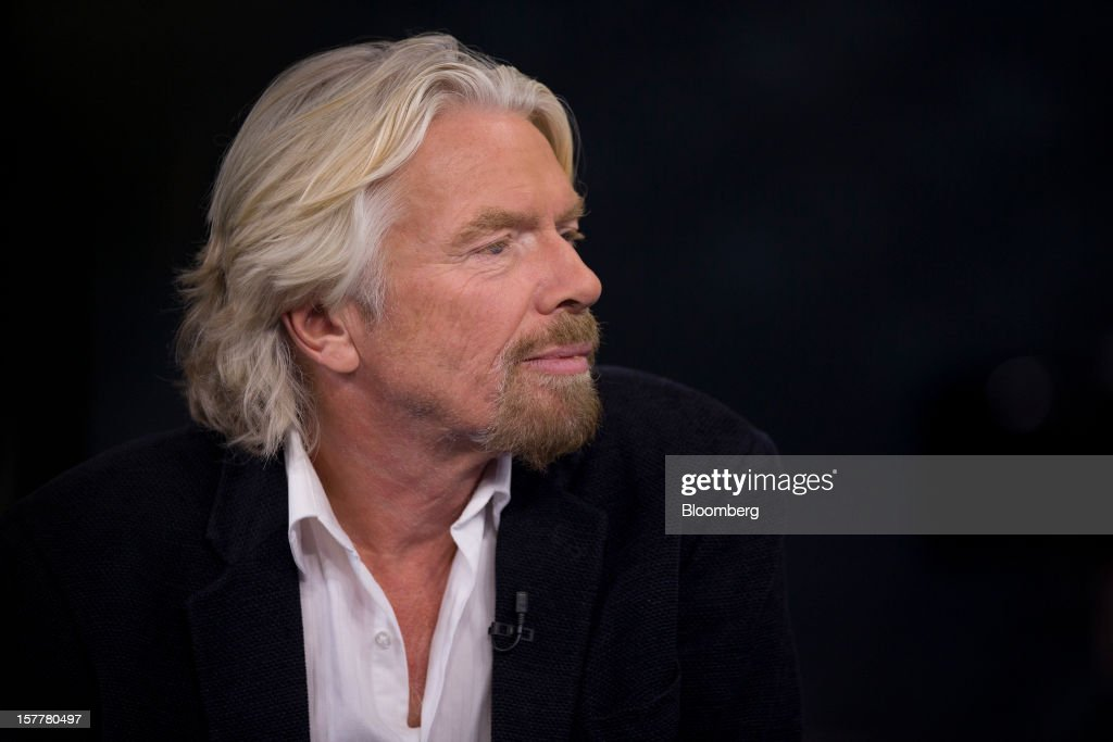 <a gi-track='captionPersonalityLinkClicked' href=/galleries/search?phrase=Richard+Branson&family=editorial&specificpeople=220198 ng-click='$event.stopPropagation()'>Richard Branson</a>, chairman and founder of Virgin Group Ltd., pauses during an interview in New York, U.S., on Thursday, Dec. 6, 2012. Branson's Virgin Trains was handed a deal to run Britain's premier rail route for two more years on the day a government-backed probe found that a decision to strip it of the contract was based on faulty calculations. Photographer: Scott Eells/Bloomberg via Getty Images
