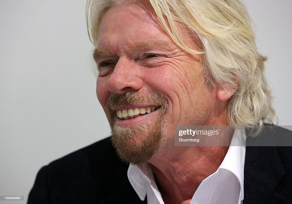 <a gi-track='captionPersonalityLinkClicked' href=/galleries/search?phrase=Richard+Branson&family=editorial&specificpeople=220198 ng-click='$event.stopPropagation()'>Richard Branson</a>, chairman and founder of Virgin Group Ltd., reacts during a Bloomberg interview at the Open Innovations International Forum for Innovative Development in Moscow, Russia, on Wednesday, Oct. 31, 2012. The Forum brings together representatives from business, the authorities, and sciences, to share experiences and analyse fundamental global trends. Photographer: Andrey Rudakov/Bloomberg via Getty Images