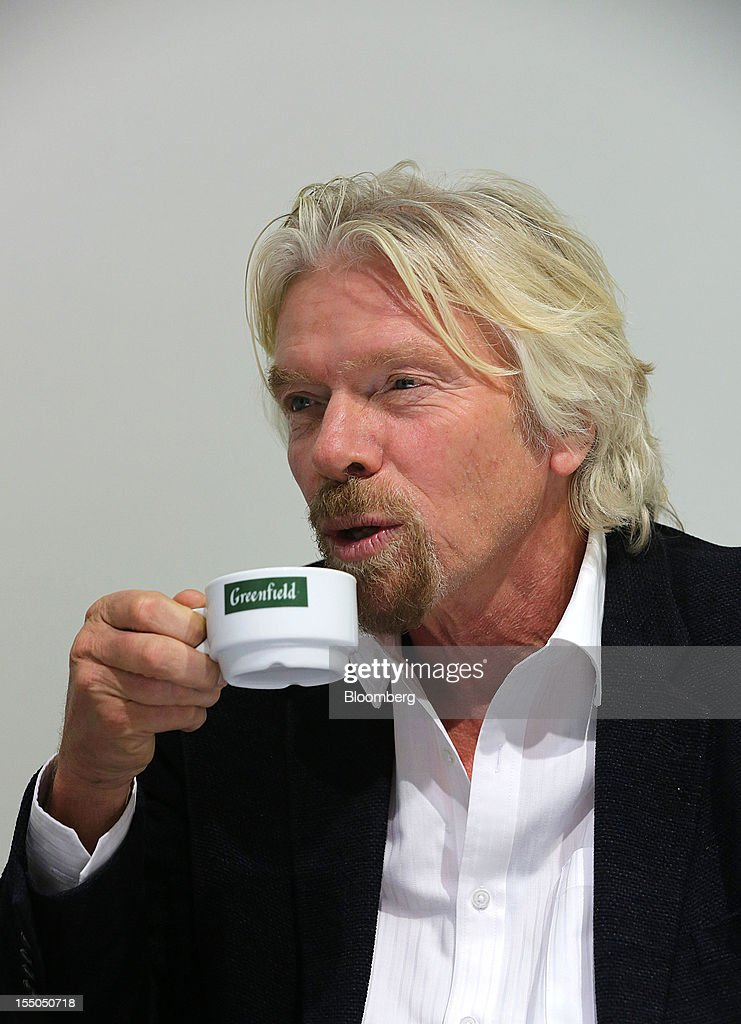 <a gi-track='captionPersonalityLinkClicked' href=/galleries/search?phrase=Richard+Branson&family=editorial&specificpeople=220198 ng-click='$event.stopPropagation()'>Richard Branson</a>, chairman and founder of Virgin Group Ltd., speaks during a Bloomberg interview at the Open Innovations International Forum for Innovative Development in Moscow, Russia, on Wednesday, Oct. 31, 2012. The Forum brings together representatives from business, the authorities, and sciences, to share experiences and analyse fundamental global trends. Photographer: Andrey Rudakov/Bloomberg via Getty Images