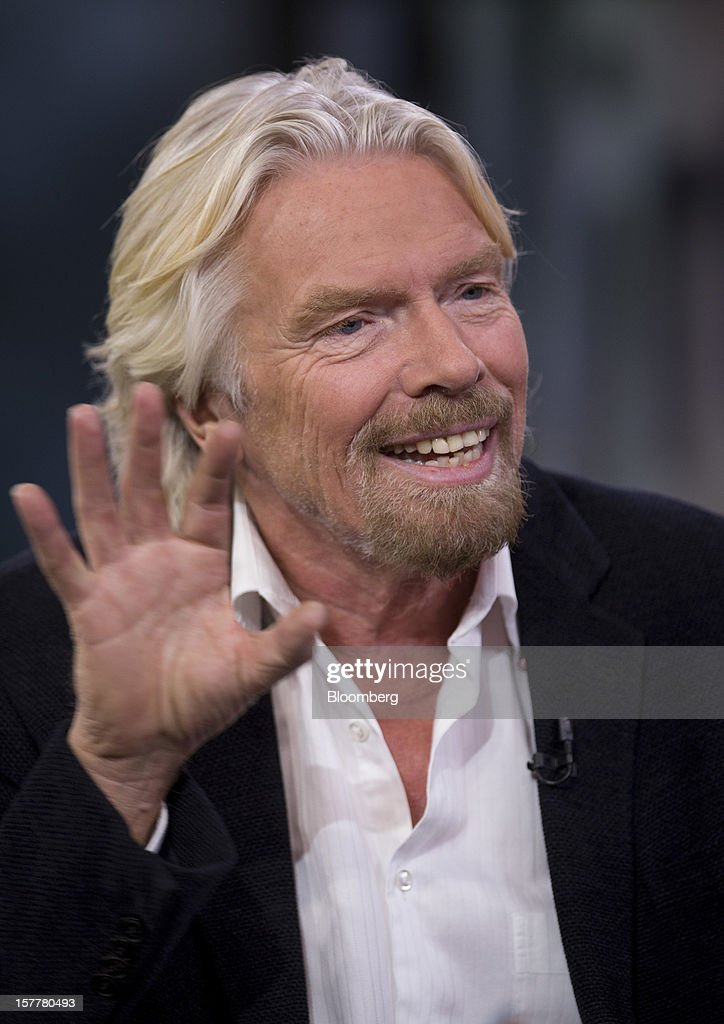 <a gi-track='captionPersonalityLinkClicked' href=/galleries/search?phrase=Richard+Branson&family=editorial&specificpeople=220198 ng-click='$event.stopPropagation()'>Richard Branson</a>, chairman and founder of Virgin Group Ltd., speaks during an interview in New York, U.S., on Thursday, Dec. 6, 2012. Branson's Virgin Trains was handed a deal to run Britain's premier rail route for two more years on the day a government-backed probe found that a decision to strip it of the contract was based on faulty calculations. Photographer: Scott Eells/Bloomberg via Getty Images