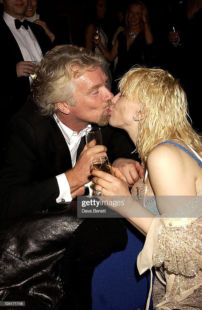 Richard Branson & Courtney Love, The Old Vic Theatre Benefit Party Held At The Old Vic Theatre London.