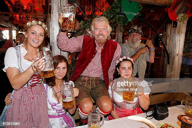 Richard Branson during the Oktoberfest at Theresienwiese on September 26 2016 in Munich Germany