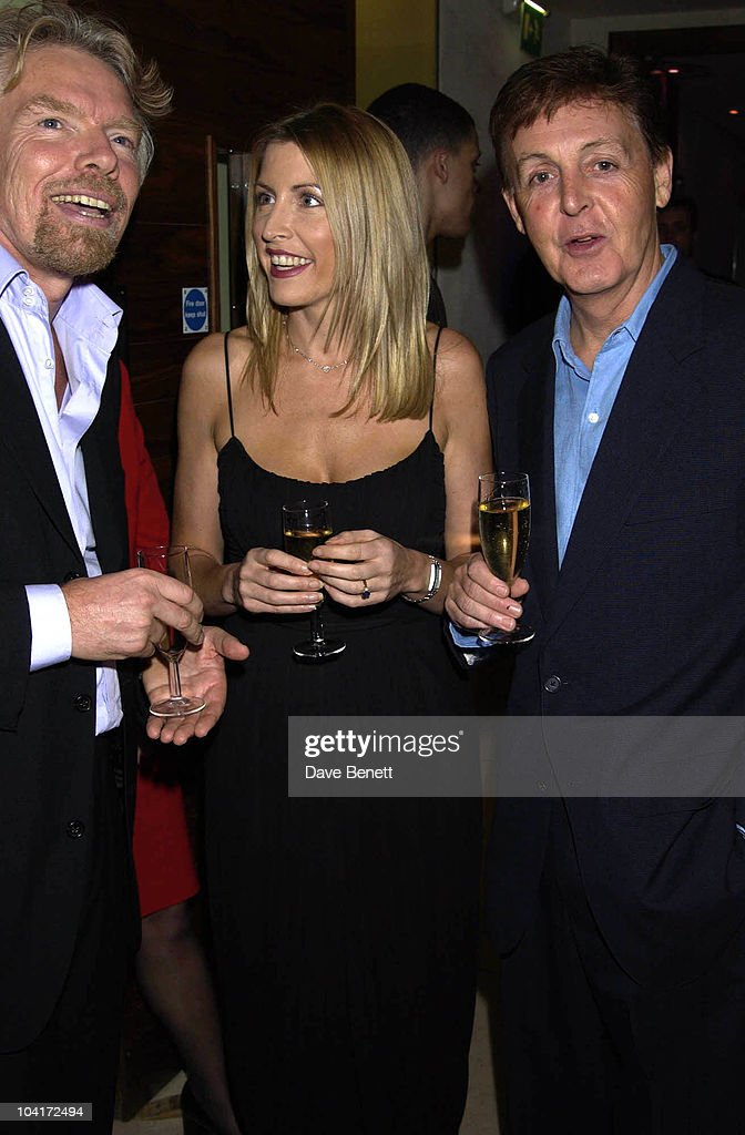 Richard Branson, Heather Mills & Paul Mccartney, Charity Auction For Signed Photos For Twin Towers Fund, At The Royal Academy Of Arts, Piccadilly, London