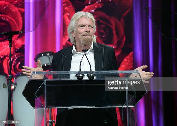 Richard Branson speaks onstage during the AltaMed Power Up We Are The Future Gala at the Beverly Wilshire Four Seasons Hotel on May 12 2016 in...
