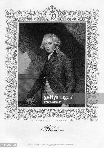 Richard Brinsley Sheridan Irish playwright and Whig statesman 19th century