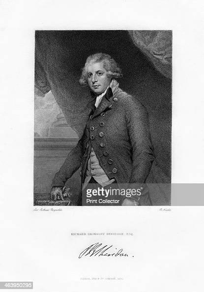 Richard Brinsley Sheridan Irish playwright and Whig statesman c1788 Portrait of Sheridan Irishborn dramatist and author of The Rivals