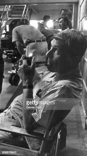 Richard Brooks producerdirectorwriter of the movie rests between shots in Cellhouse No1 He won Oscar for 'Elmer Gantry' screenplay Credit Denver Post