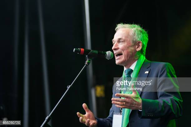 Richard Bruton TD Irish Minister for Education and Skills takes part in the annual St Patricks Day celebration on March 19 2017 in London United...