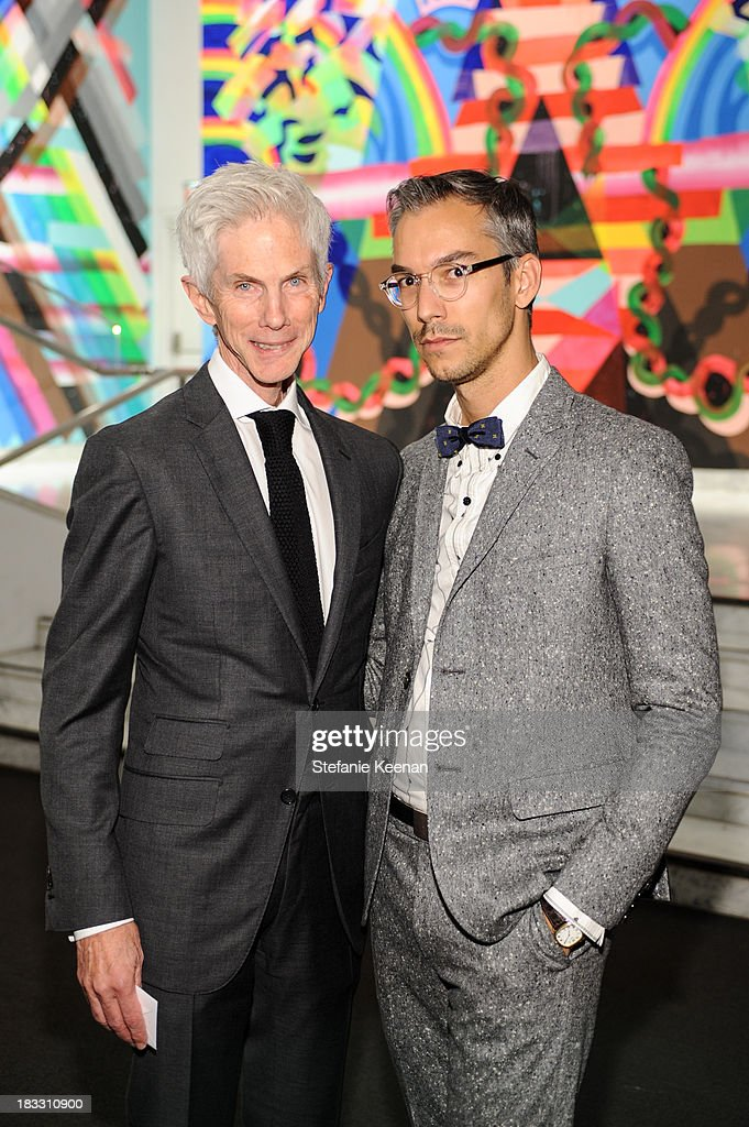 Richard Buckley and David Morehouse attend Hammer Museum 11th Annual Gala In The Garden With Generous Support From Bottega Veneta, October 5, 2013, Los Angeles, CA at Hammer Museum on October 5, 2013 in Westwood, California.