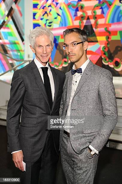Richard Buckley and David Morehouse attend Hammer Museum 11th Annual Gala In The Garden With Generous Support From Bottega Veneta October 5 Los...
