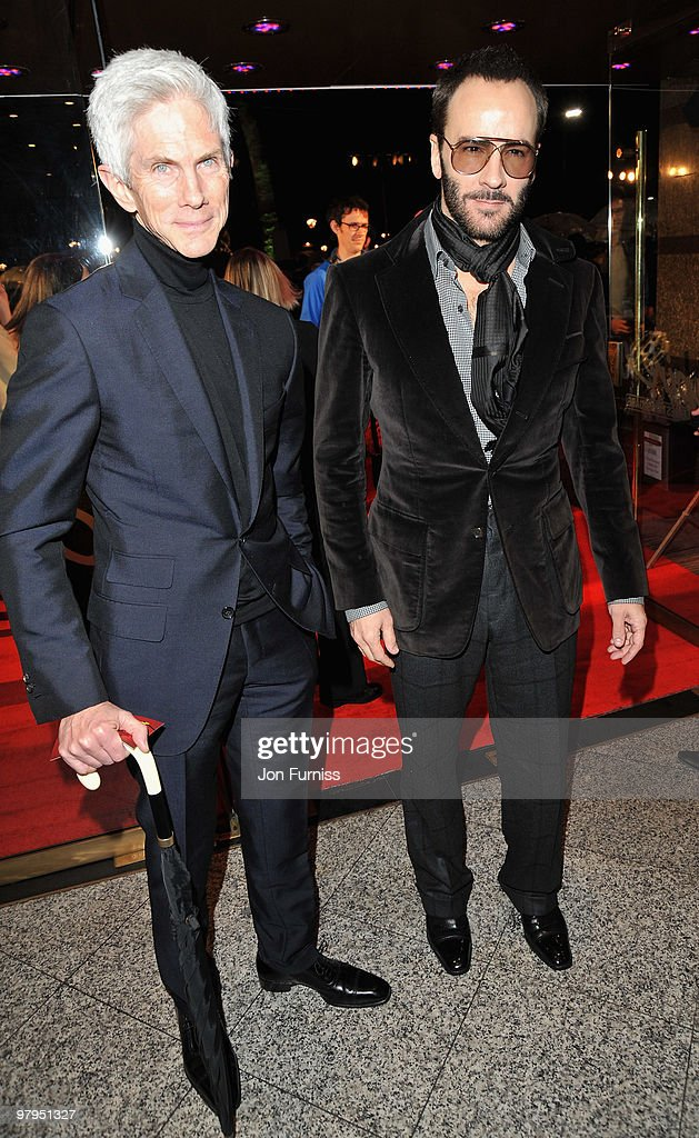 Richard Buckley and fashion designer Tom Ford attends the 'Kick Ass' European film premiere at the Empire Leicester Square on March 22 2010 in London...