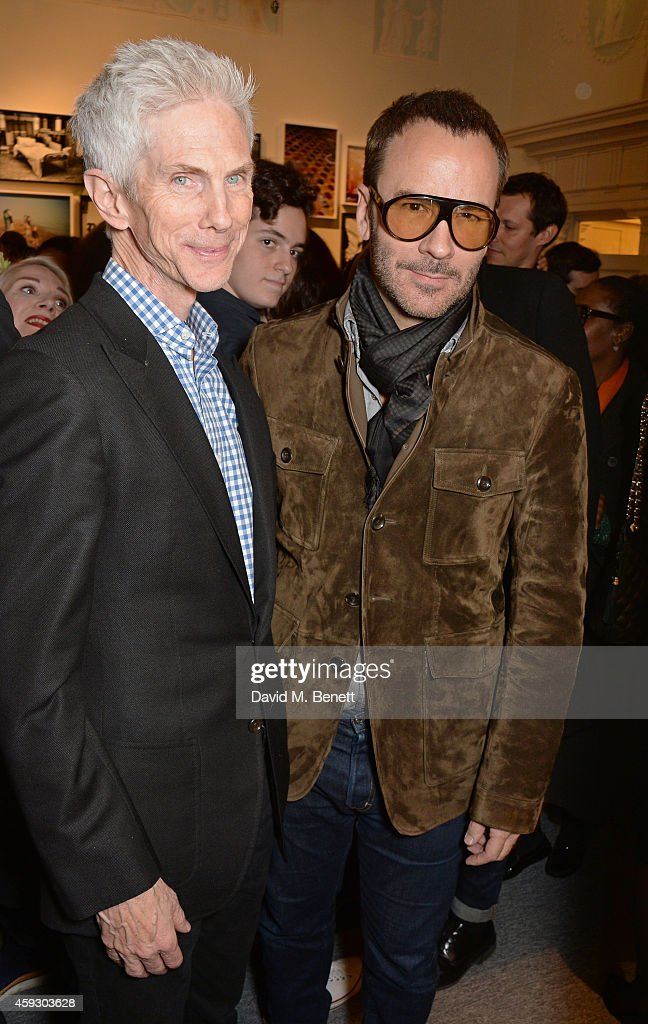 Richard Buckley and Tom Ford attend the book launch and private view of 'Mary McCartney Monochrome And Colour' curated by De Pury De Pury on November...
