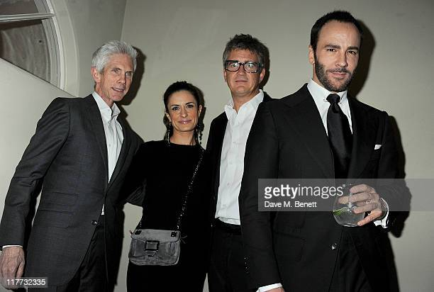 Richard Buckley Livia Firth Jay Jopling and Tom Ford attend an exclusive party hosted by Jay Jopling to celebrate the completion of 'Contra Mundum'...